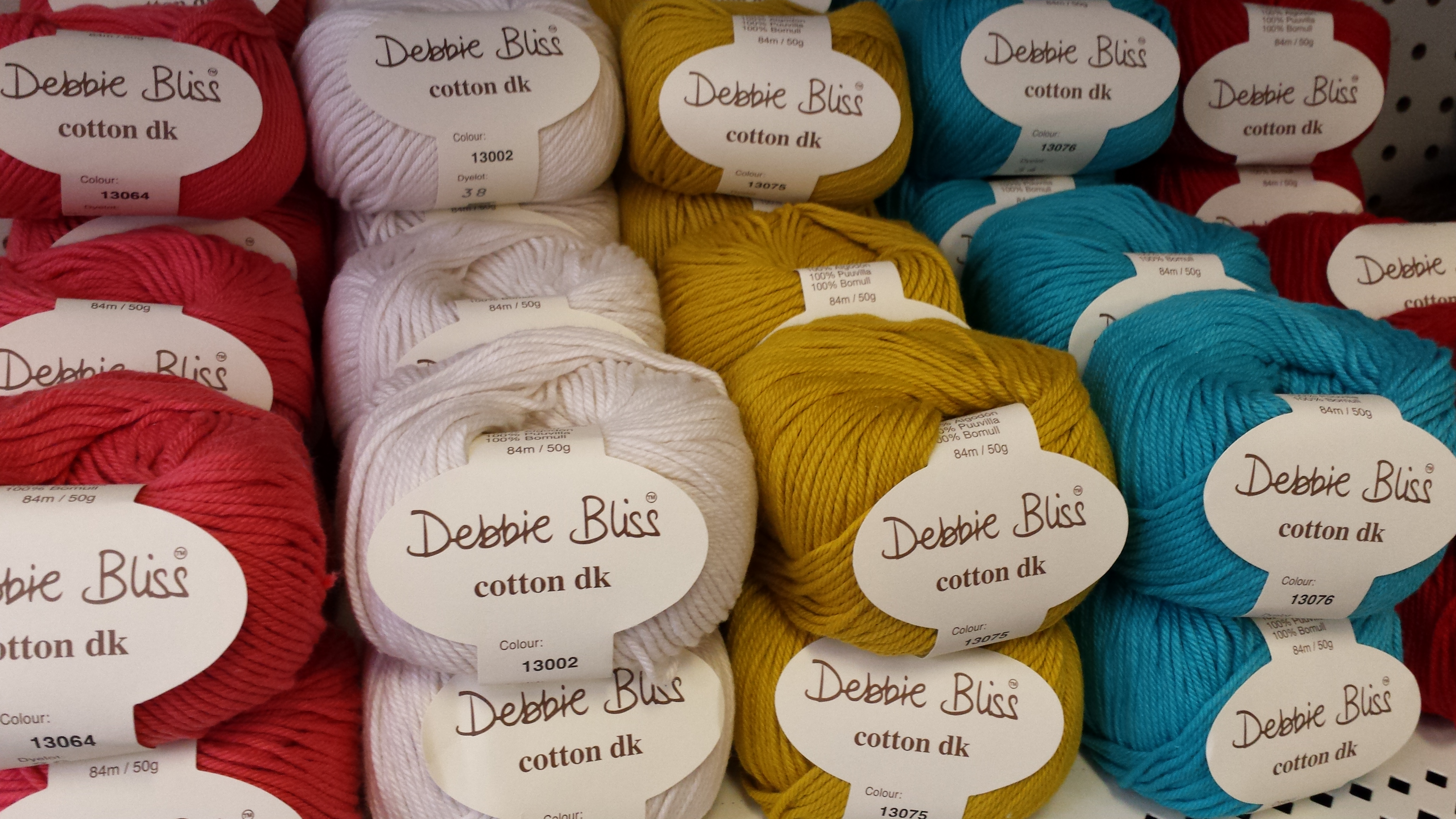Debbie Bliss Cotton DK – Spindle, Shuttle, and Needle
