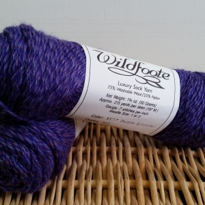 Wildfoote Sock Yarn Purple Splendor