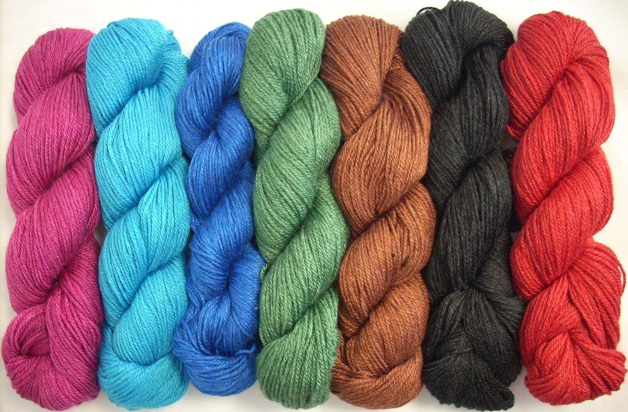 Silk Yarn : Mirasol Nuna Wool-Silk-Bamboo Blend Yarn Spindle, Shuttle, and ...